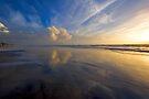 Oceanside Beach Reflections by photosbyflood