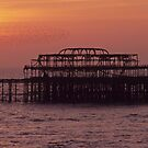 Brighton Sunset by Kasia Nowak