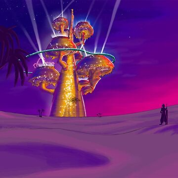 Golden Saucer in the Sand by roydgriffin