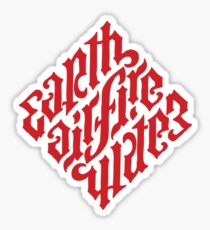 Earth, Air, Fire, Water - Ambigram Sticker