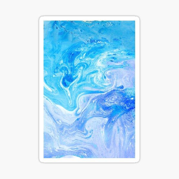 Turquoise Blue Unicorn Watercolors Artwork Sticker