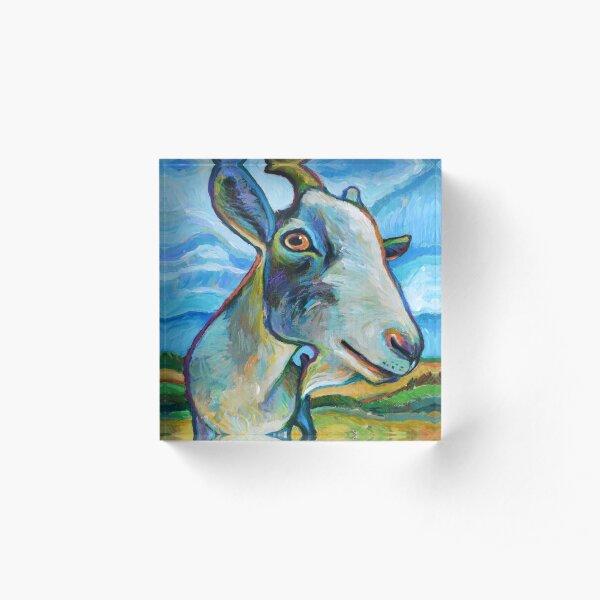 Goat Painting called Van Goat Acrylic Block