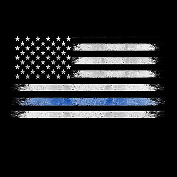 Thin Blue Line Law Enforcement Police Support by Greenbaby