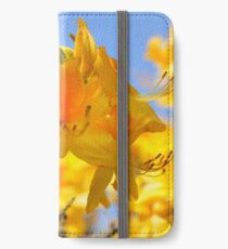 Yellow Rhododendron Flowers. Spring Pruhonice Park iPhone Wallet/Case/Skin
