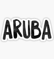 Aruba Art Beach Vacation Sticker
