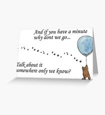 """Keane """"Somewhere Only We Know"""" Balloon Greeting Card"""