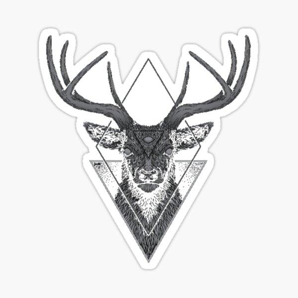 Dark Deer Sticker