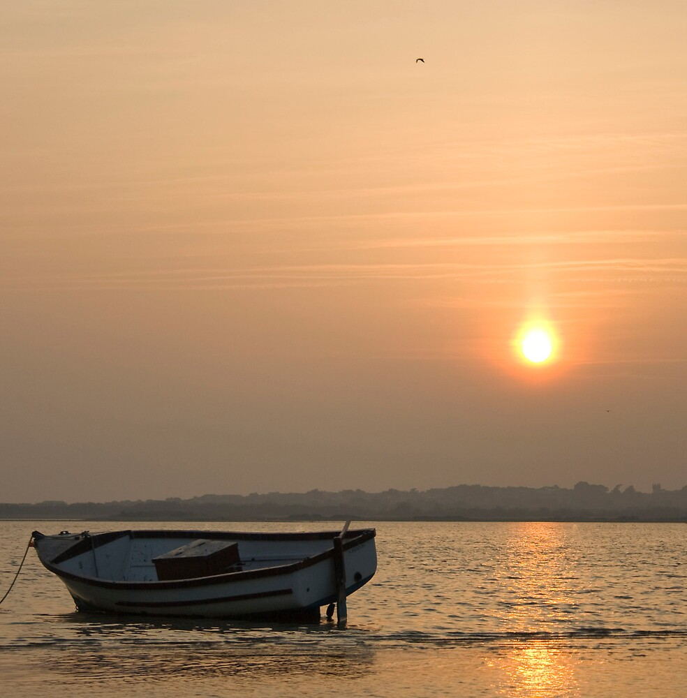 Beautiful Sunset in a lonely harbour by gavchoppy