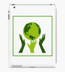 Green Hands Earth. Environment. iPad Case/Skin