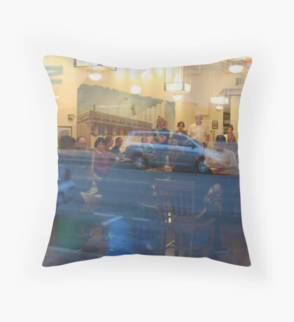 Refection of Main Street Throw Pillow