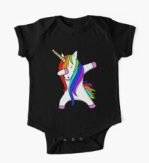 Body de manga corta para bebé Divertido Dabbing Unicorn Dance Unicorns Dab