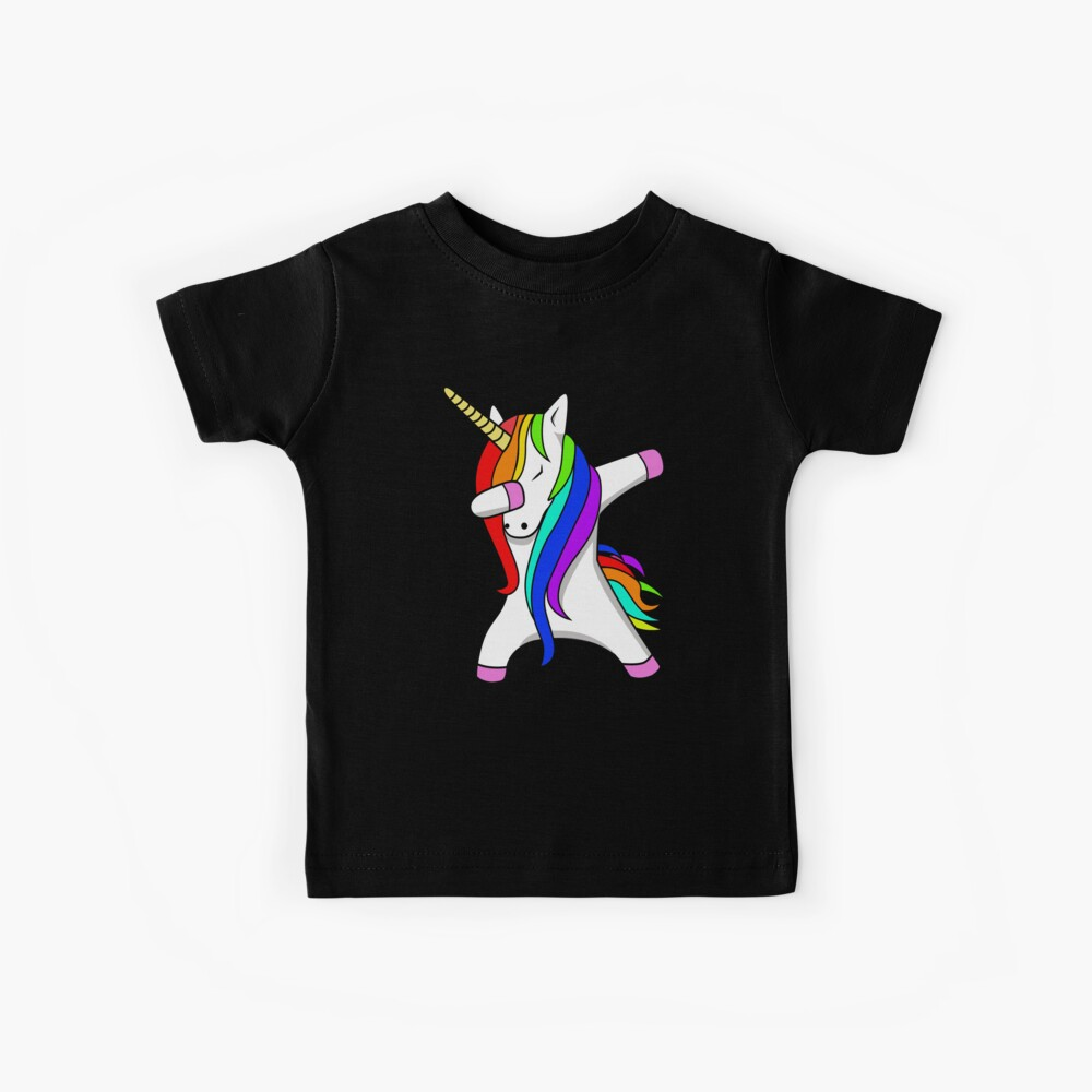 Divertido Dabbing Unicorn Dance Unicorns Dab Camiseta para niños