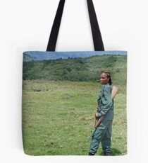 The Armed Guide, Arusha National Park, Tanzania, Africa (Y) Tote Bag