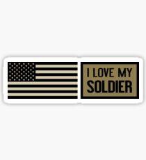 I Love My Soldier Sticker