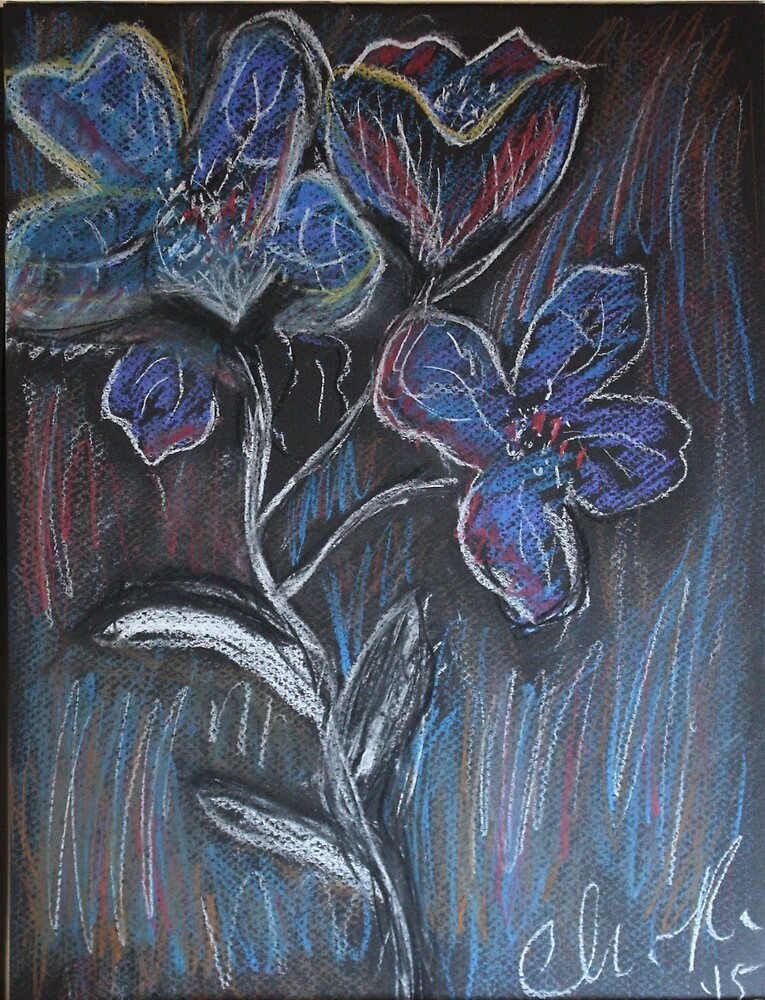 Flowers Blue... by C. Rodriguez