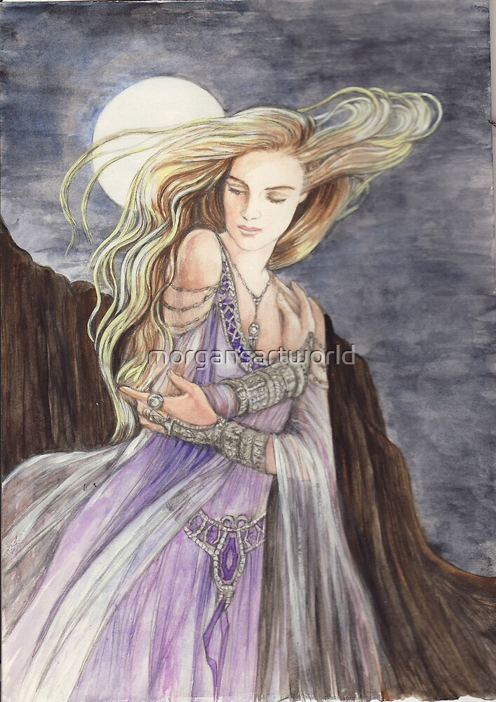 Lady of the Moon by morgansartworld