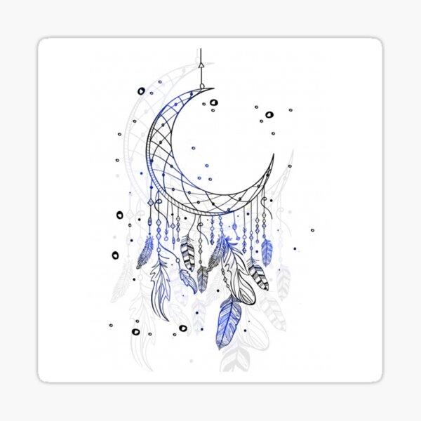 Dreamcatcher Moon Sticker