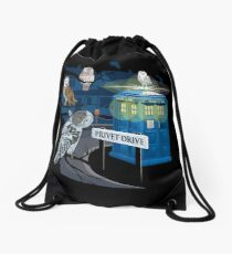Hedwig Says Who! Drawstring Bag