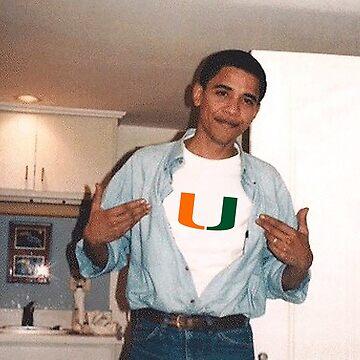 University of Miami Obama by catscollegecuts