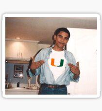 University of Miami Obama Sticker