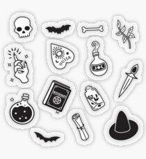 Witchy Essence Black Transparent Sticker