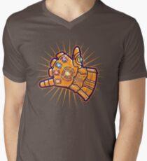 Shaka-Handschuh T-Shirt mit V-Ausschnitt