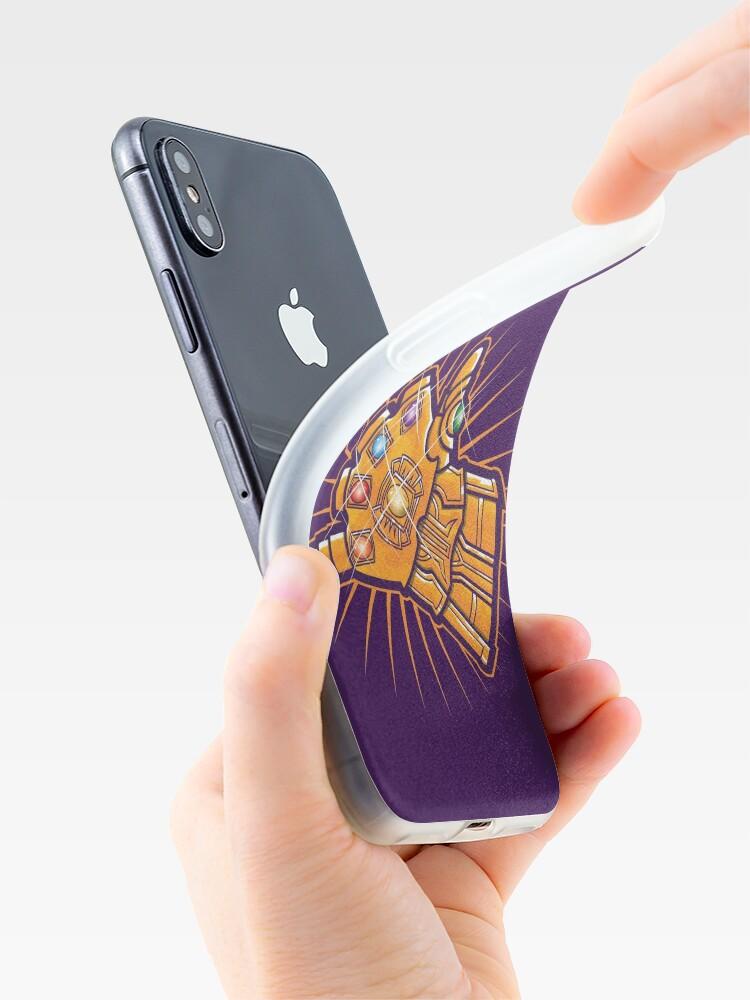 Vista alternativa de Funda y vinilo para iPhone Shaka Gauntlet