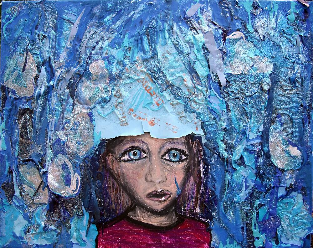 """""""Blue in the Rain"""" by Adela bellflower"""