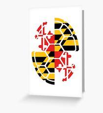 Maryland Flag Shell Greeting Card