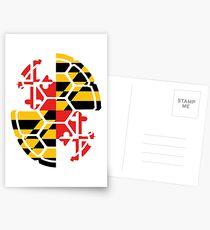 Maryland Flag Shell Postcards