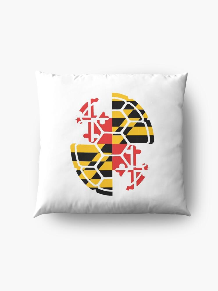 Alternative Ansicht von Maryland Flag Shell Bodenkissen