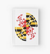 Maryland Flag Shell Hardcover Journal
