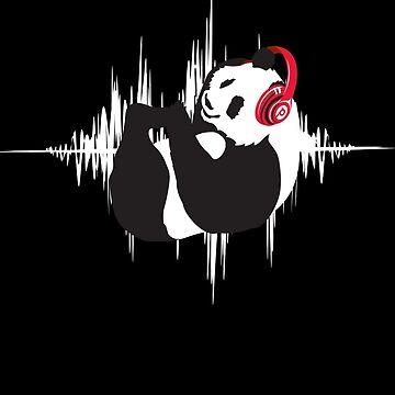 P for Panda (RocknRoll) by JohnBealDesign