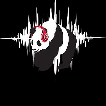 P for Panda (Tunes) by JohnBealDesign