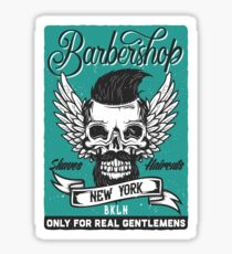 Barber Shop New York Sticker