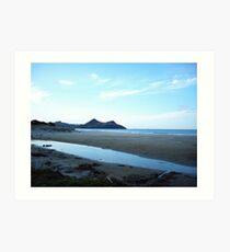 beach and ocean view of volcano island Art Print