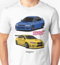 STi (blue & yellow) Unisex T-Shirt