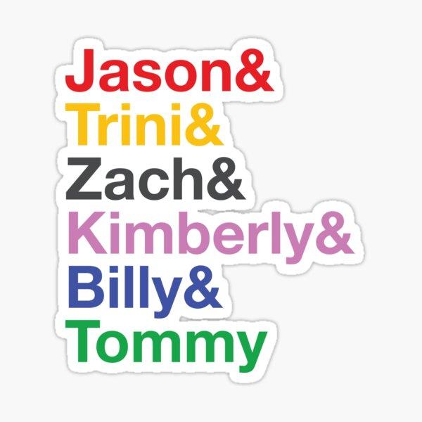 Power Rangers Name Shirt (mit Tommy) Sticker