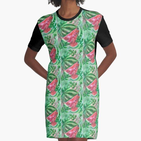 Summer fresh - Watermelon Graphic T-Shirt Dress
