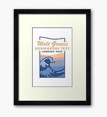 Walt Grace's Submarine Test X Emoji of a Wave   Poster Framed Print