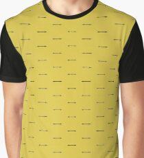 Stacheldraht über Gelb Grafik T-Shirt