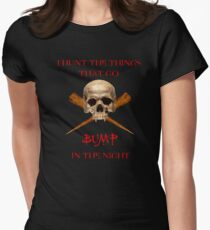 THINGS THAT GO BUMP IN THE NIGHT Women's Fitted T-Shirt