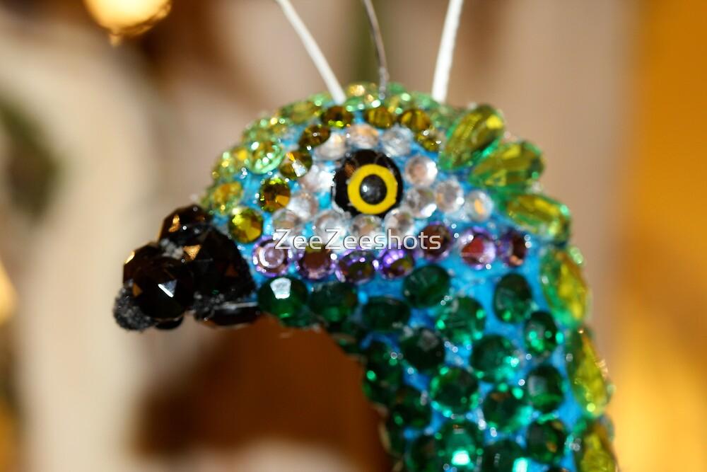 Peacock in Glass by ZeeZeeshots