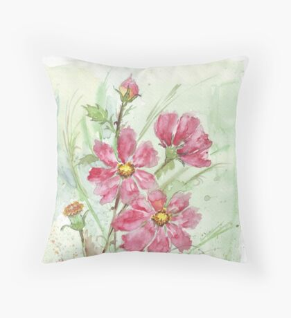 A Rose amongst the Cosmos Throw Pillow