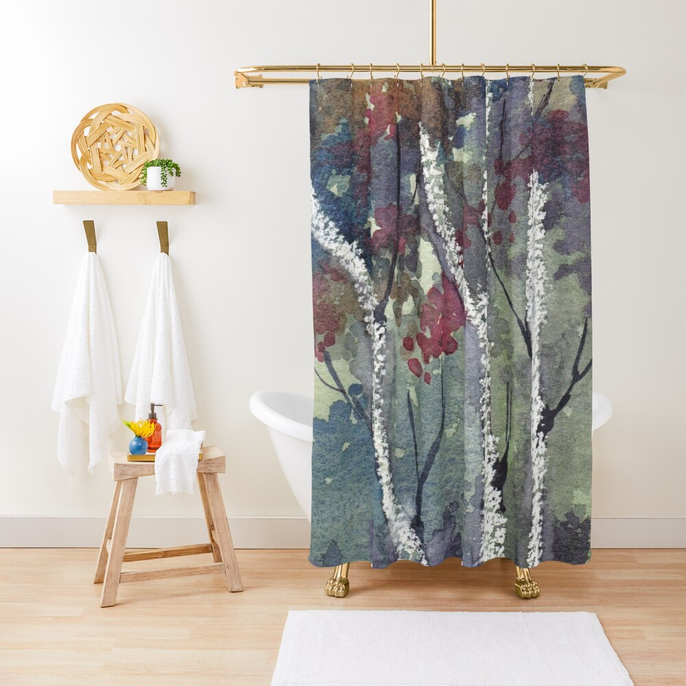 The Dark Forest  Shower Curtain