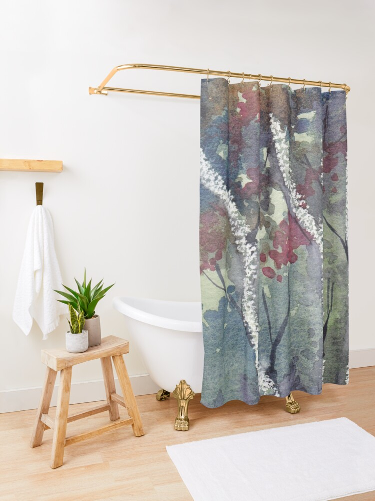 Alternate view of The Dark Forest  Shower Curtain