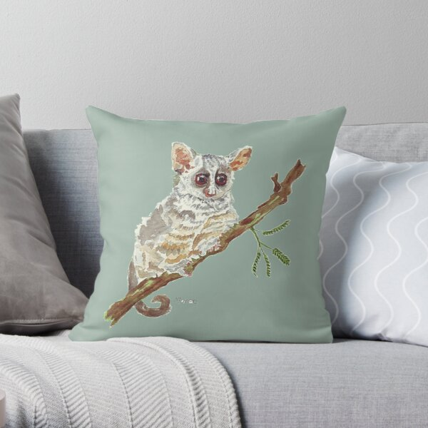 Pippin, the Bush baby Throw Pillow