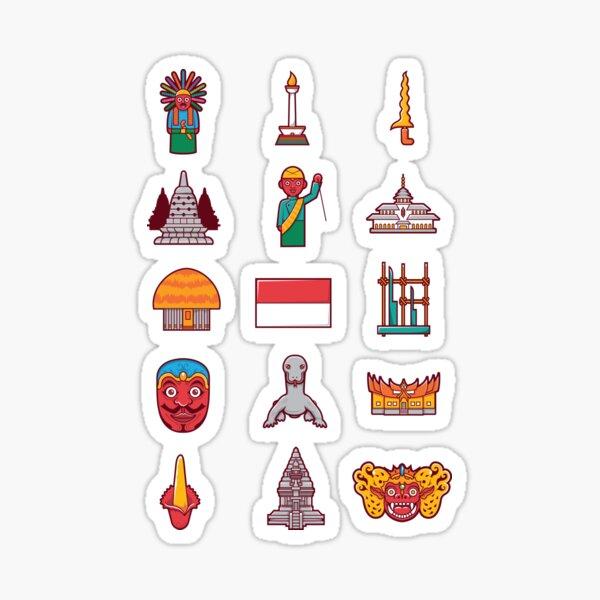 cute indonesia icon Sticker