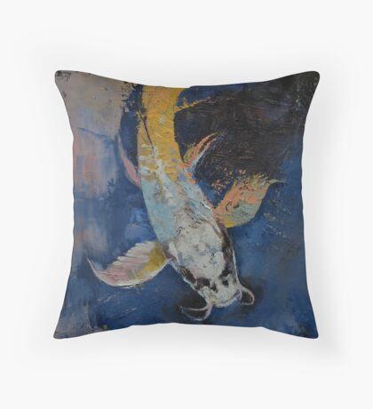 Dragon Koi Throw Pillow
