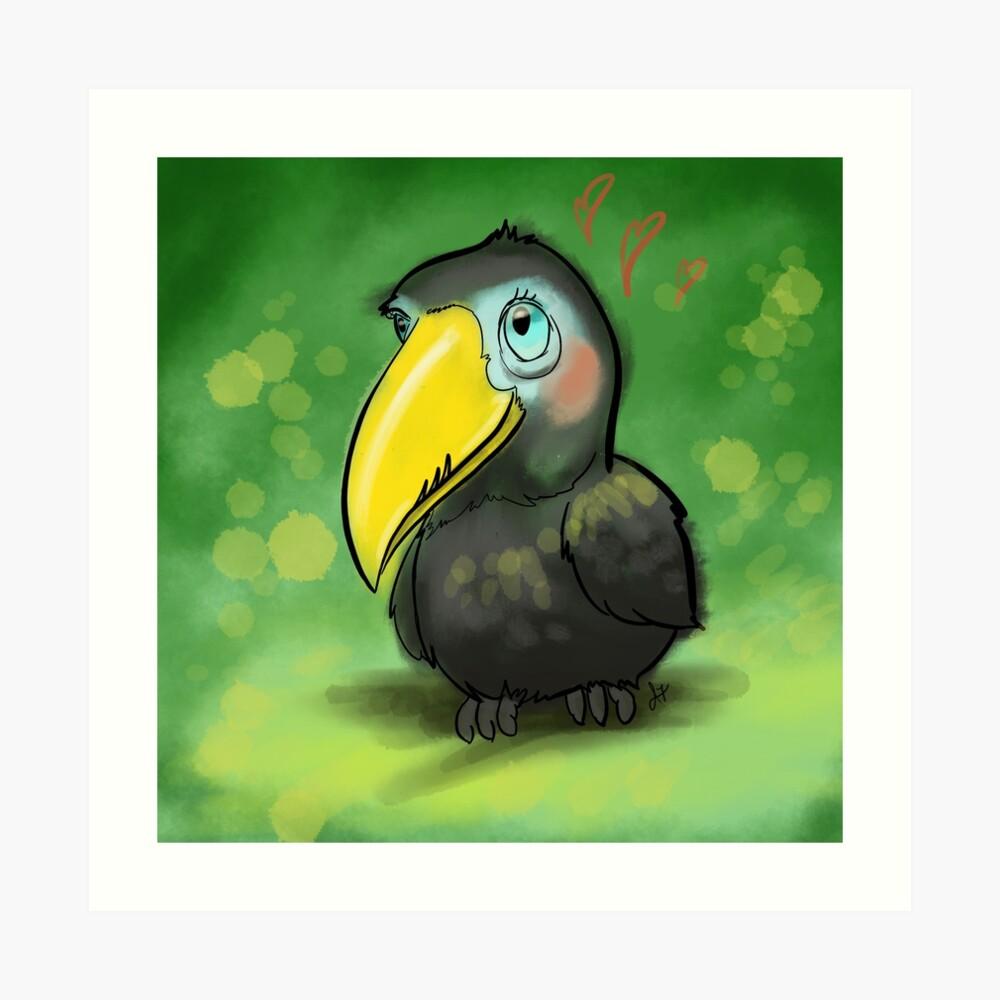 Cute Baby Toucan Art Print